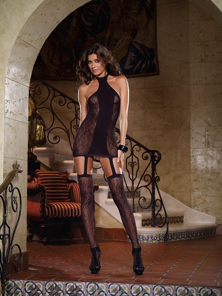 r ckenfreies neckholder kleid schwarz kleider tops. Black Bedroom Furniture Sets. Home Design Ideas